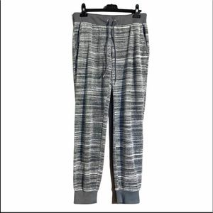 Juicy Couture Gray and White Velour Joggers